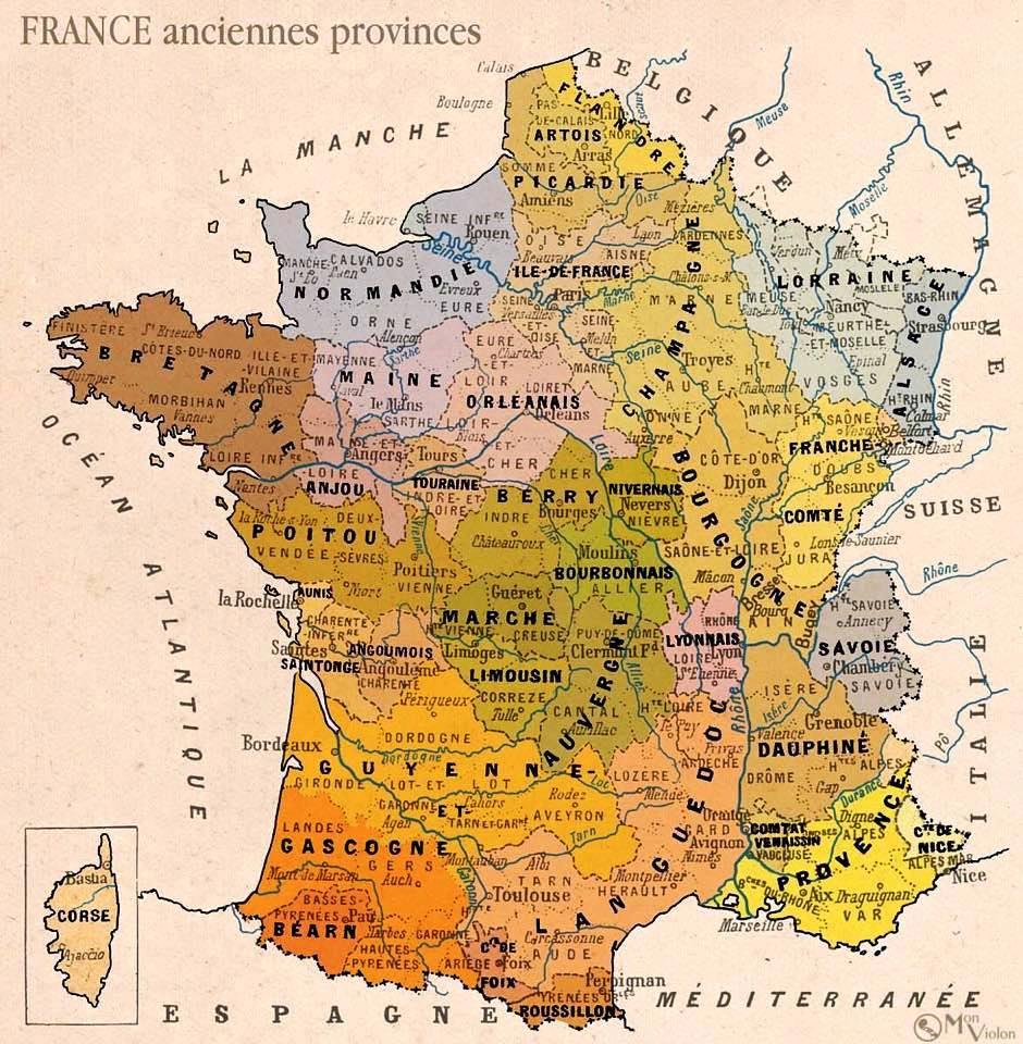 Carte Des Provinces De France - Contre- serapportantà Carte Anciennes Provinces Françaises