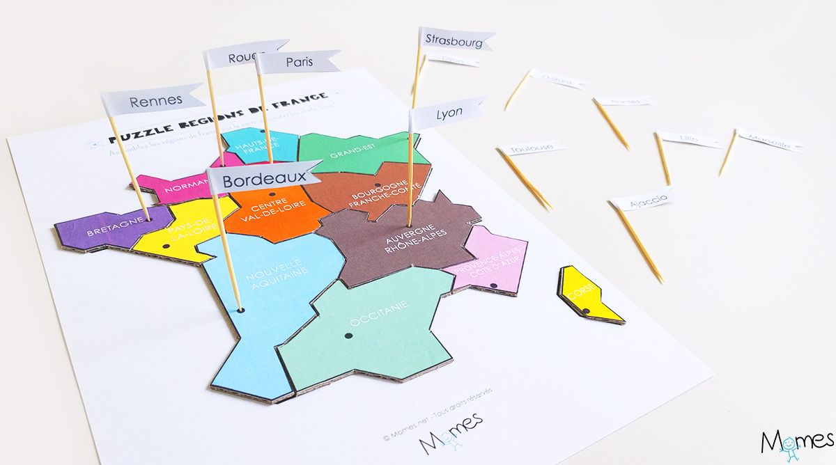 Carte Des Régions De France À Imprimer En Puzzle ! | Carte avec Jeu Sur Les Régions De France