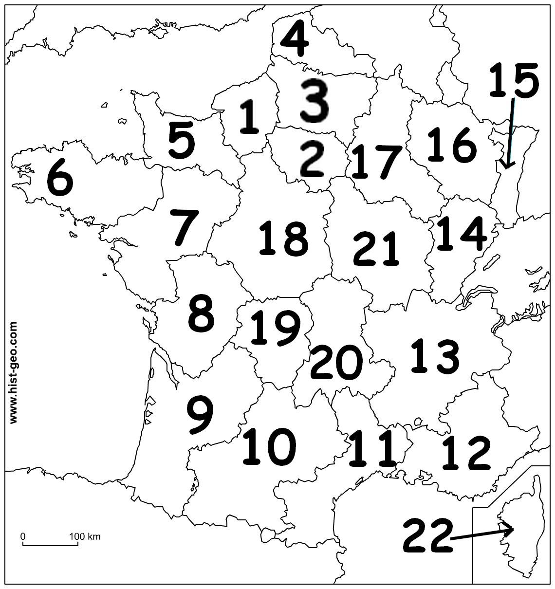 Carte Des Régions De France tout Exercice Carte De France