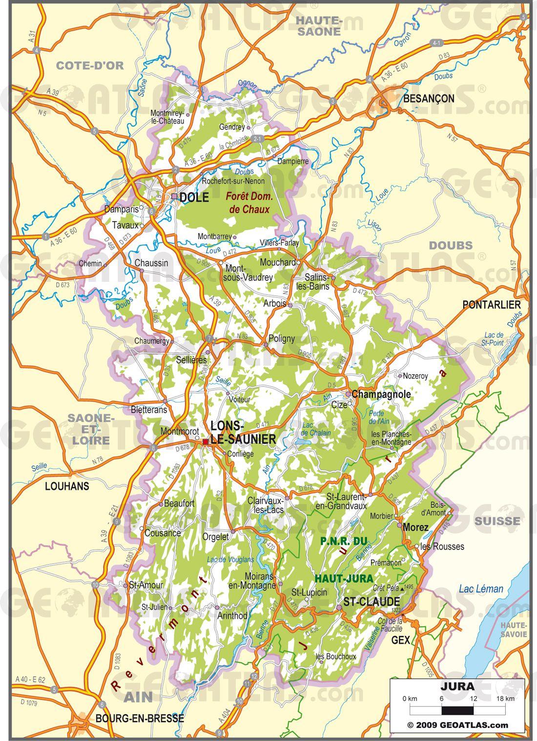 Carte Détaillée Du Jura | My Blog à Carte Des Villes De France Détaillée