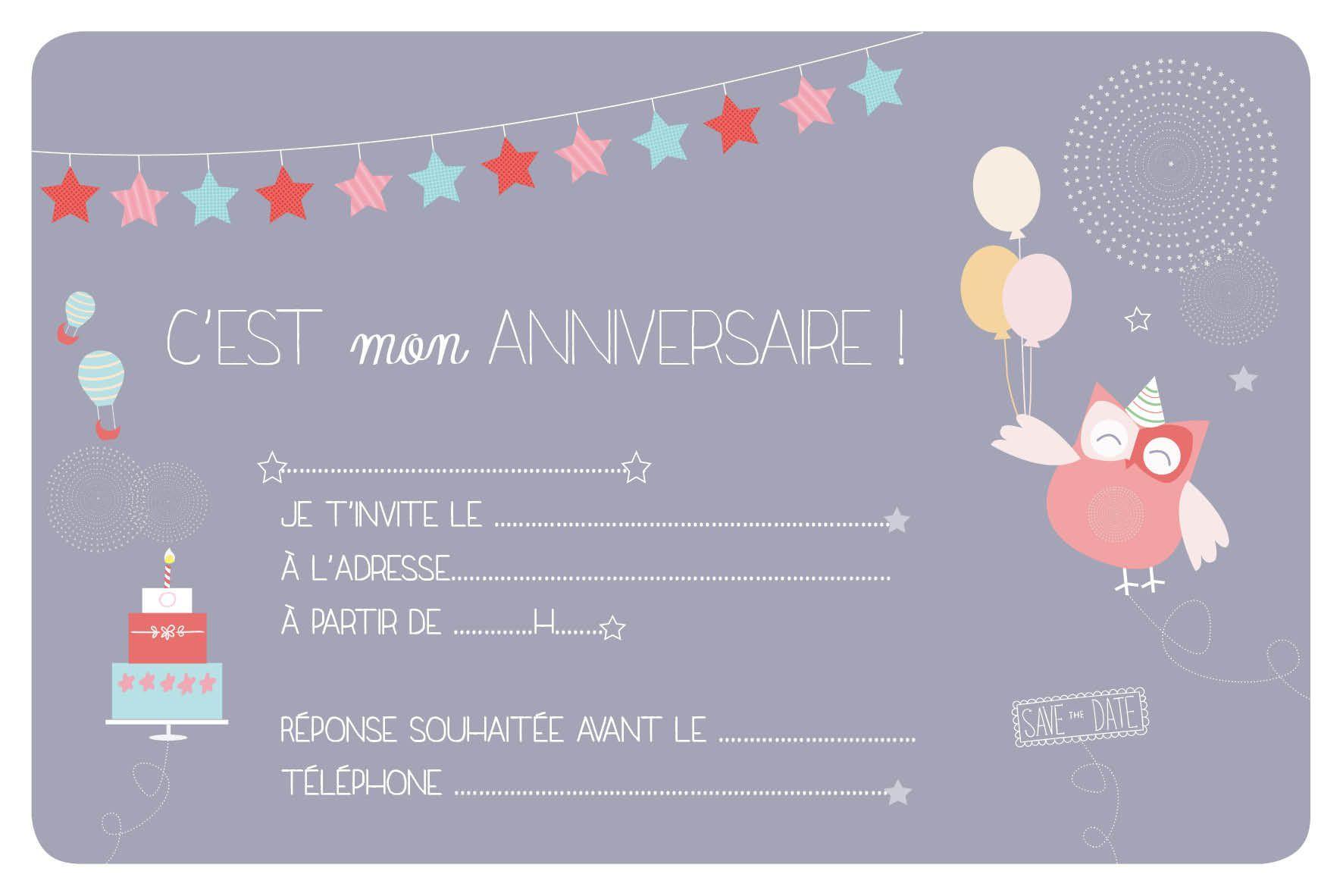 Carte D'invitation Anniversaire Fille 10 Ans À Imprimer à Jeux De Fille De 10 Ans Gratuit