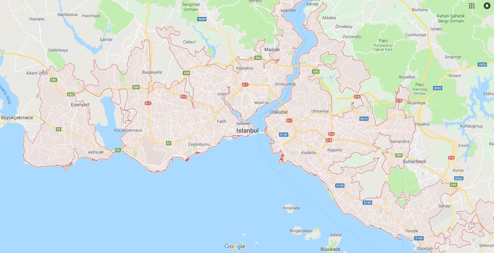 Carte D'istanbul - Plusieurs Cartes De Cette Ville à Département 09 Carte