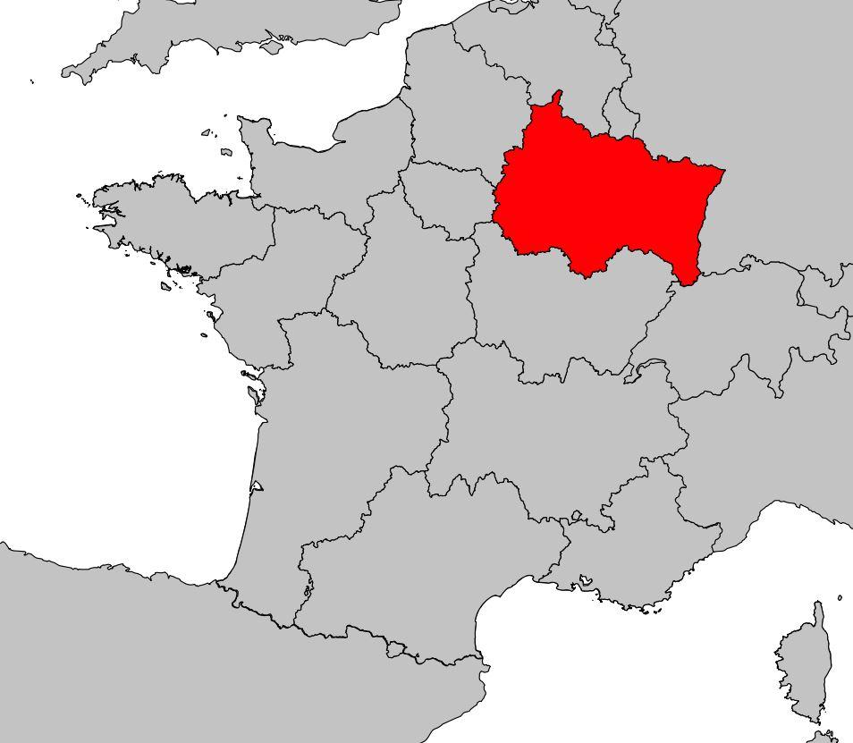Carte Du Grand Est - Grand Est Carte Des Villes encequiconcerne Carte Ile De France Vierge