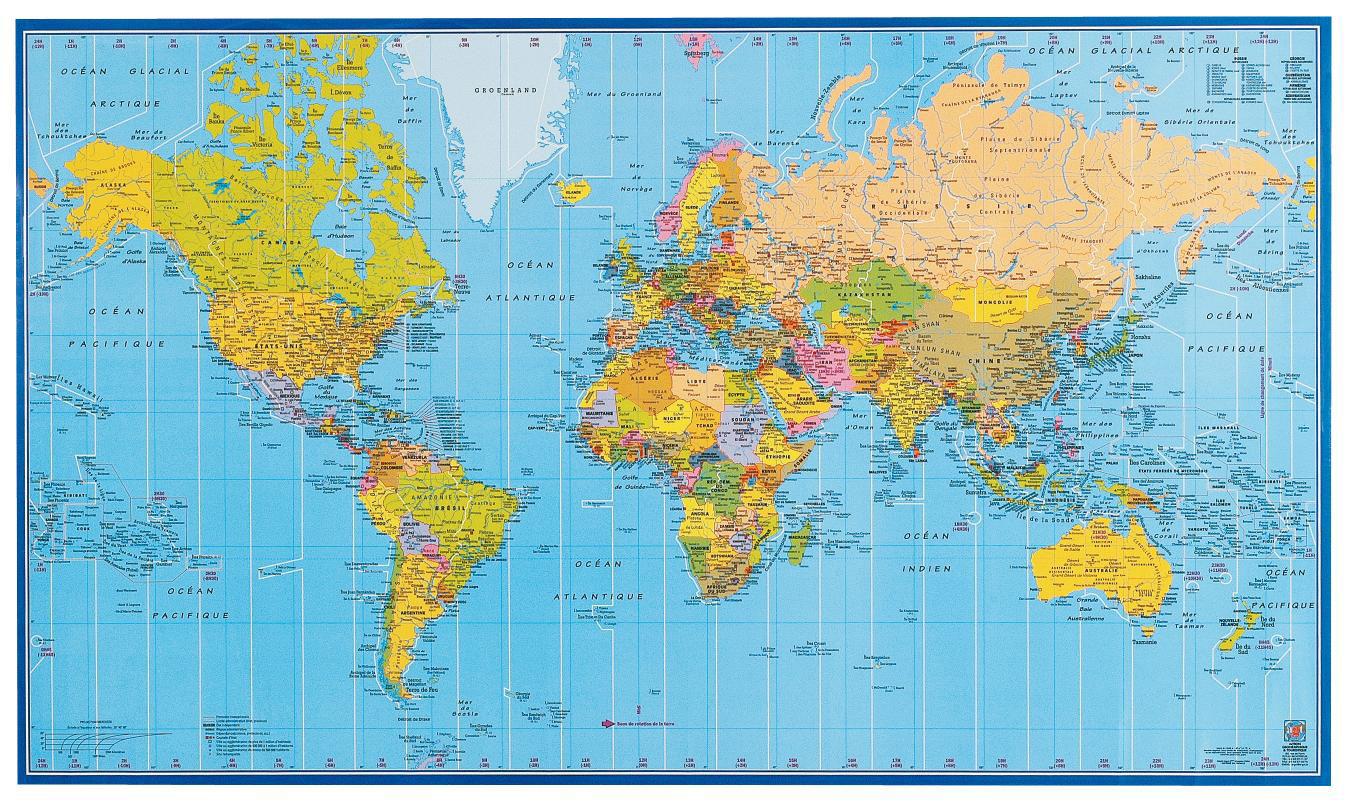Carte Du Monde - Atlas - Arts Et Voyages dedans Carte Du Monde Avec Capitales Et Pays
