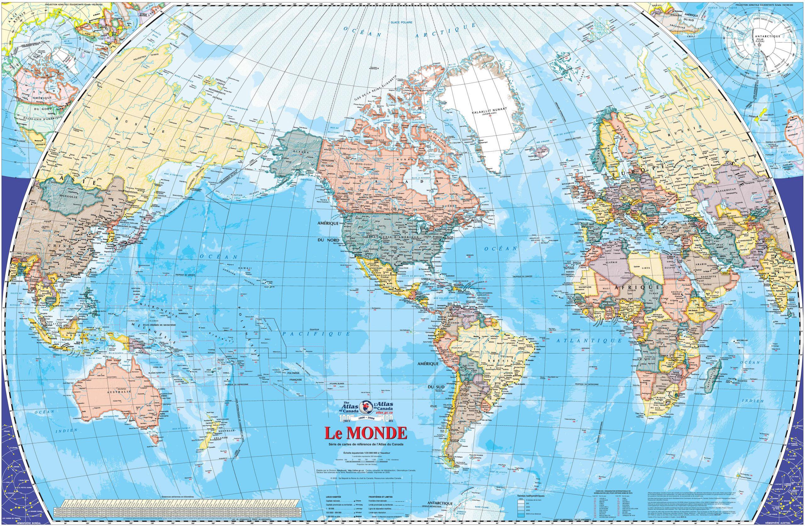 Carte Du Monde Atlas, Carte Du Monde intérieur Carte Du Monde Avec Continent
