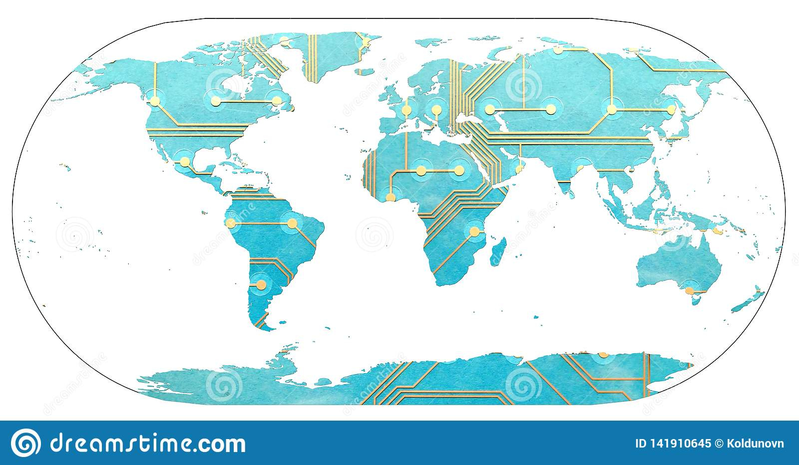 Carte Du Monde Avec Des Continents Remplis Par La Carte à Carte Du Monde Avec Continent
