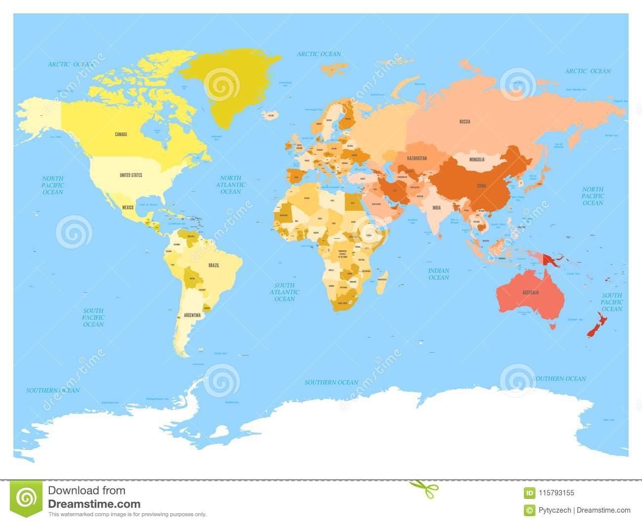 Carte Du Monde Avec Des Noms Des Pays Souverains Et Des Plus encequiconcerne Carte Du Monde Avec Capitales Et Pays