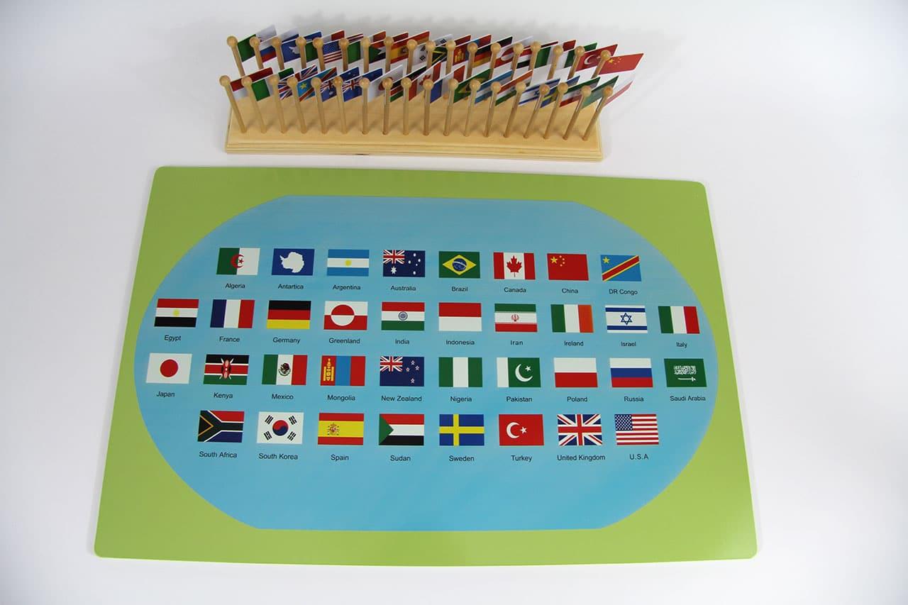Carte Du Monde Avec Drapeaux encequiconcerne Carte Du Monde Et Leur Capitale