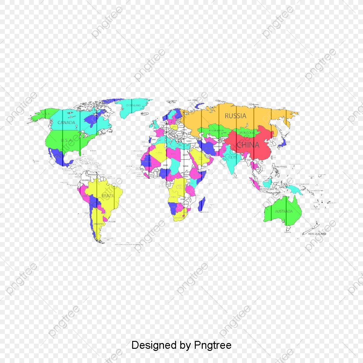 Carte Du Monde De Couleur, En Ligne, Carte Du Monde destiné Carte Du Monde En Ligne