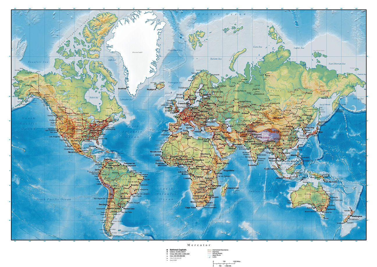 Carte Du Monde Détaillée - Image À Imprimer #3 | Carte Du concernant Carte Du Monde En Ligne