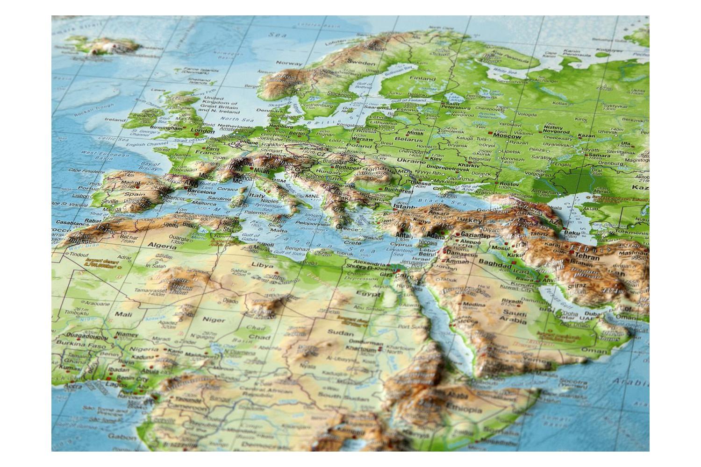 Carte Du Monde En Relief serapportantà Carte De L Europe En Relief