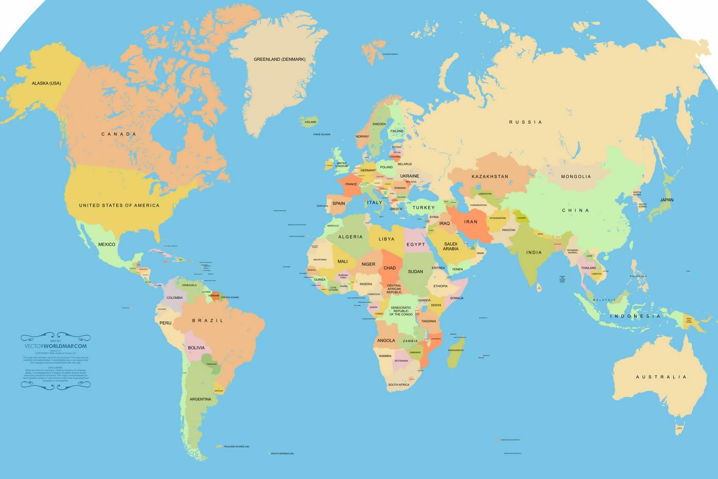 Carte Du Monde Pays dedans Carte Du Monde Avec Continent