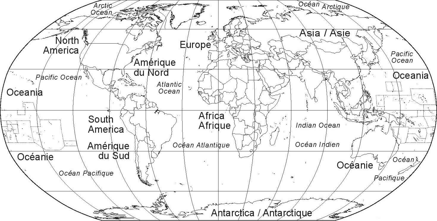 Carte Du Monde Vierge, Carte Du Monde concernant Carte Du Monde À Compléter En Ligne