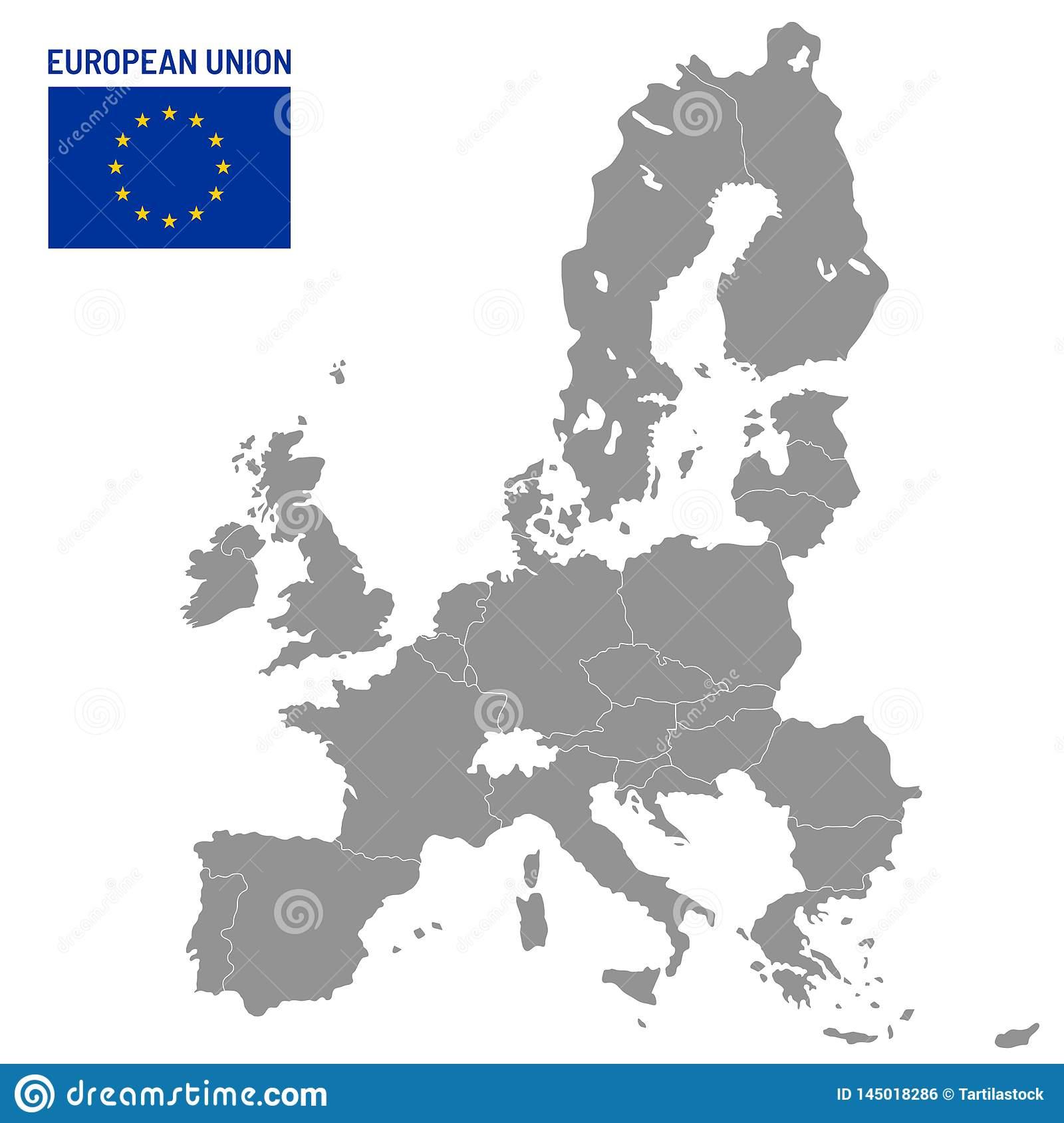 Carte D'union Europ?enne Pays Membres D'ue, Illustration De serapportantà Pays Membre De L Europe