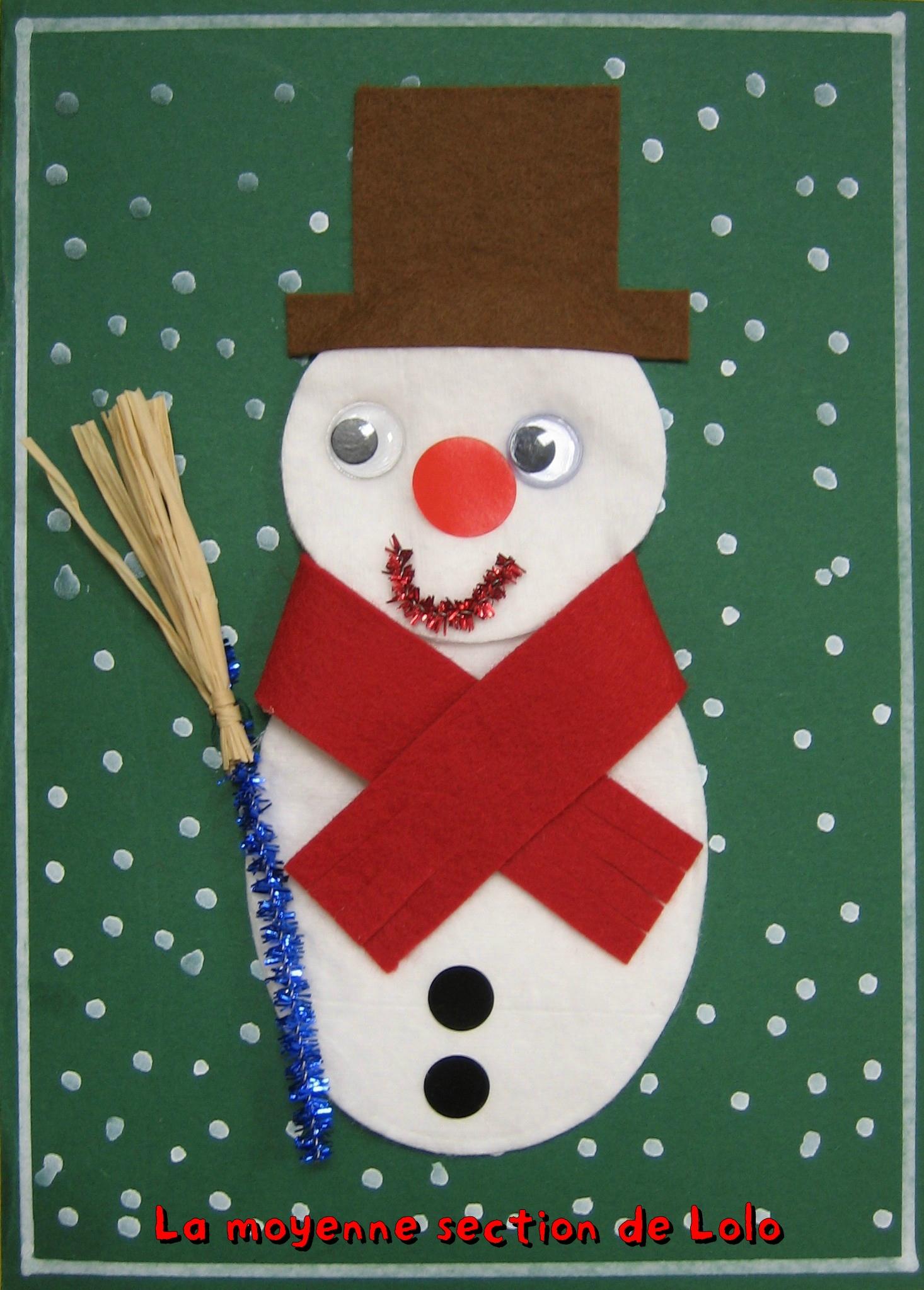 Carte Et Decorations De Noël - La Moyenne Section De Lolo concernant Cartes De Noel Maternelle