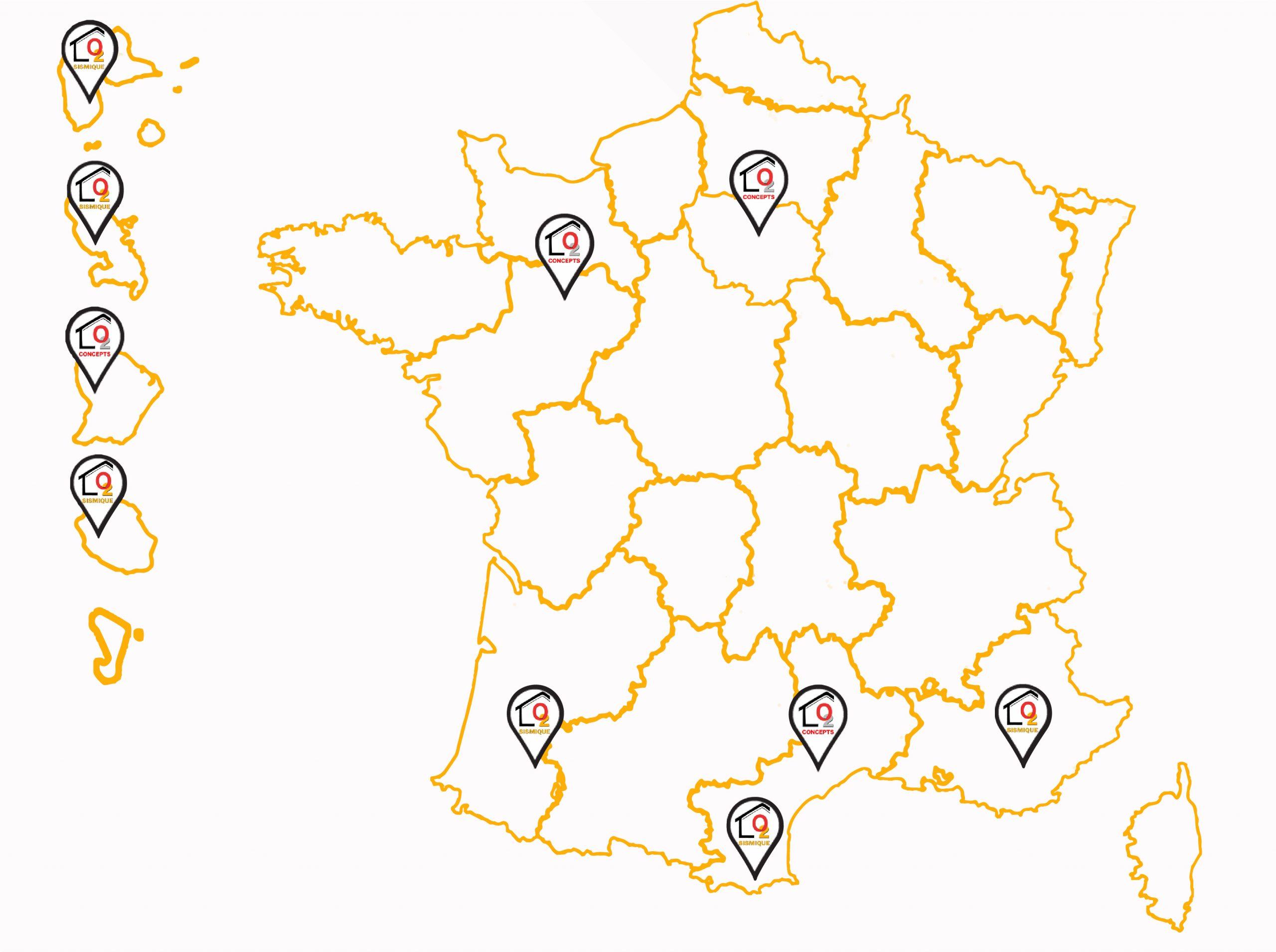 Carte-France-Dom-Tom - Lo2 Sismique dedans Carte De France Dom Tom