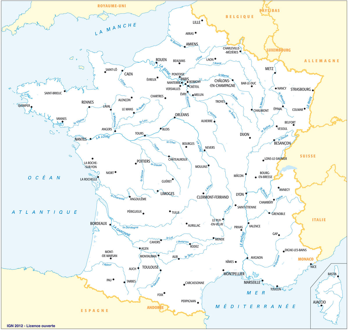 Carte France Villes : Carte Des Villes De France à Carte De France Avec Grandes Villes