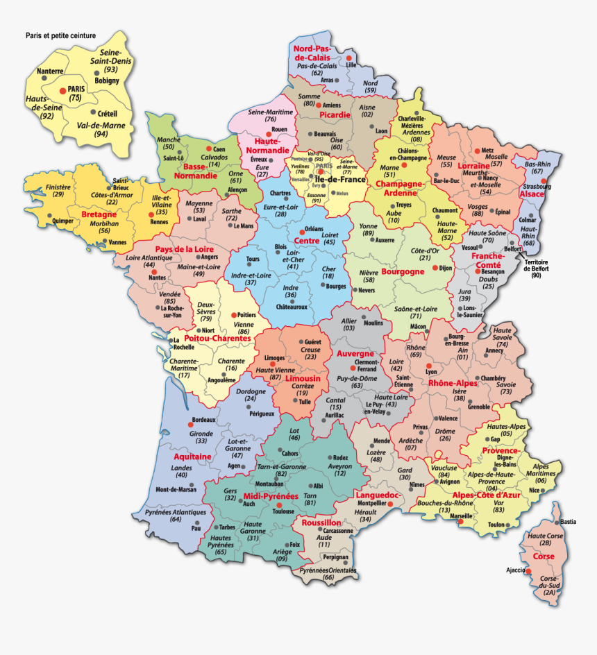 Carte France-Webcams - French Departments, Hd Png Download encequiconcerne Carte Departement 13
