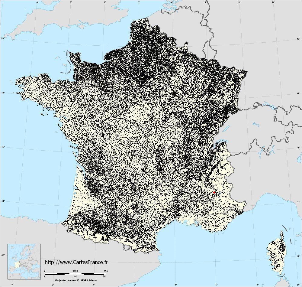 Carte Gap : Cartes De Gap 05000 à Gap Sur La Carte De France