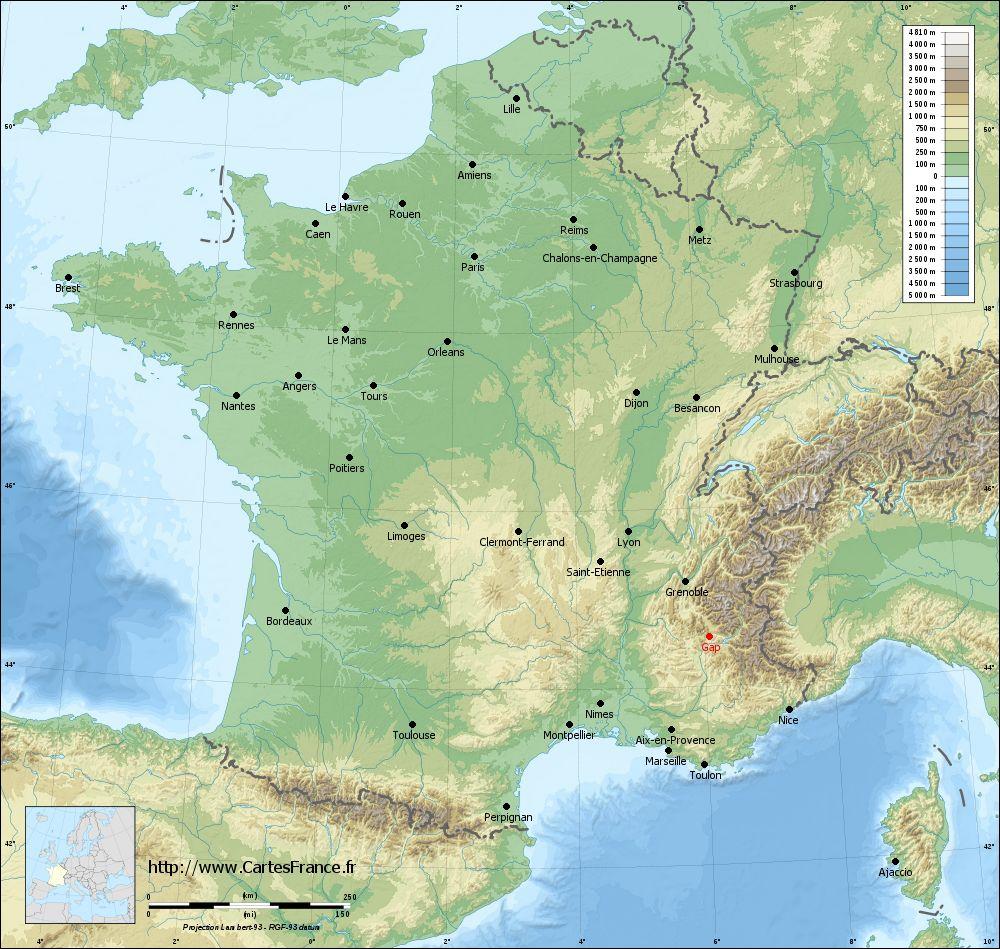Carte Gap : Cartes De Gap 05000 destiné Gap Sur La Carte De France