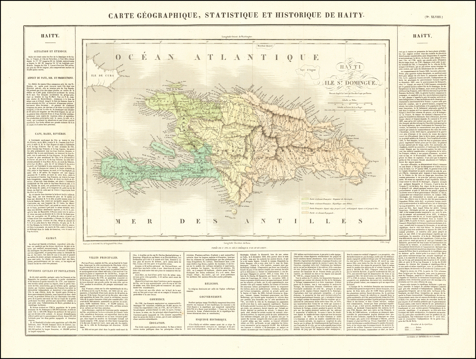 Carte Geographique, Statistique Et Historique Du Haity serapportantà Gap Sur La Carte De France