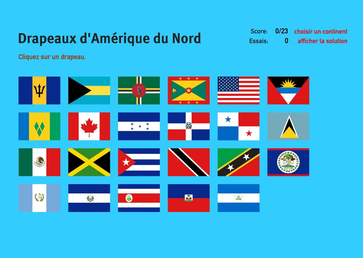 Carte Interactive D'amérique Du Nord Drapeaux D'amérique Du à Jeux De Geographie
