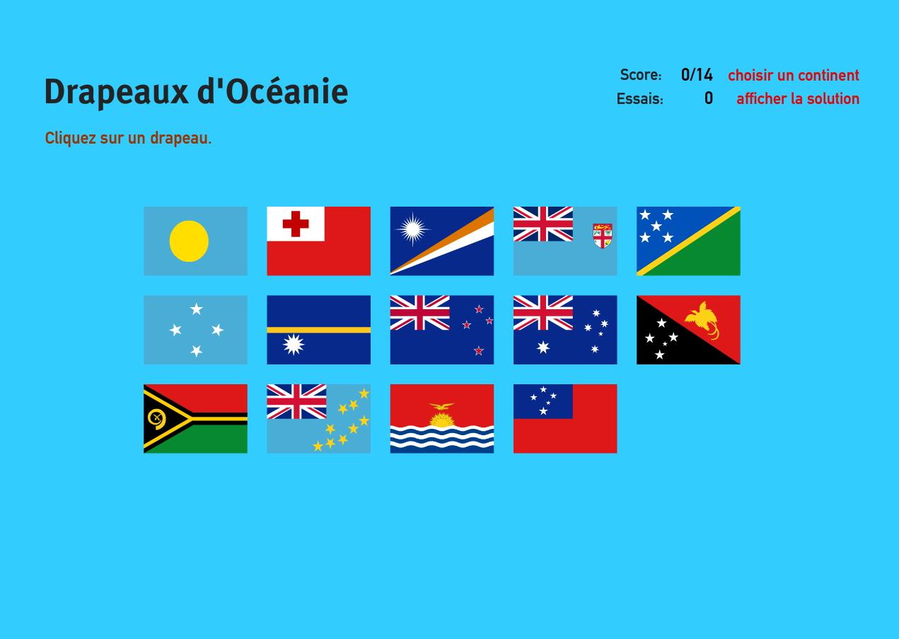 Carte Interactive D'océanie Drapeaux D'océanie. Jeux De à Jeux De Geographie