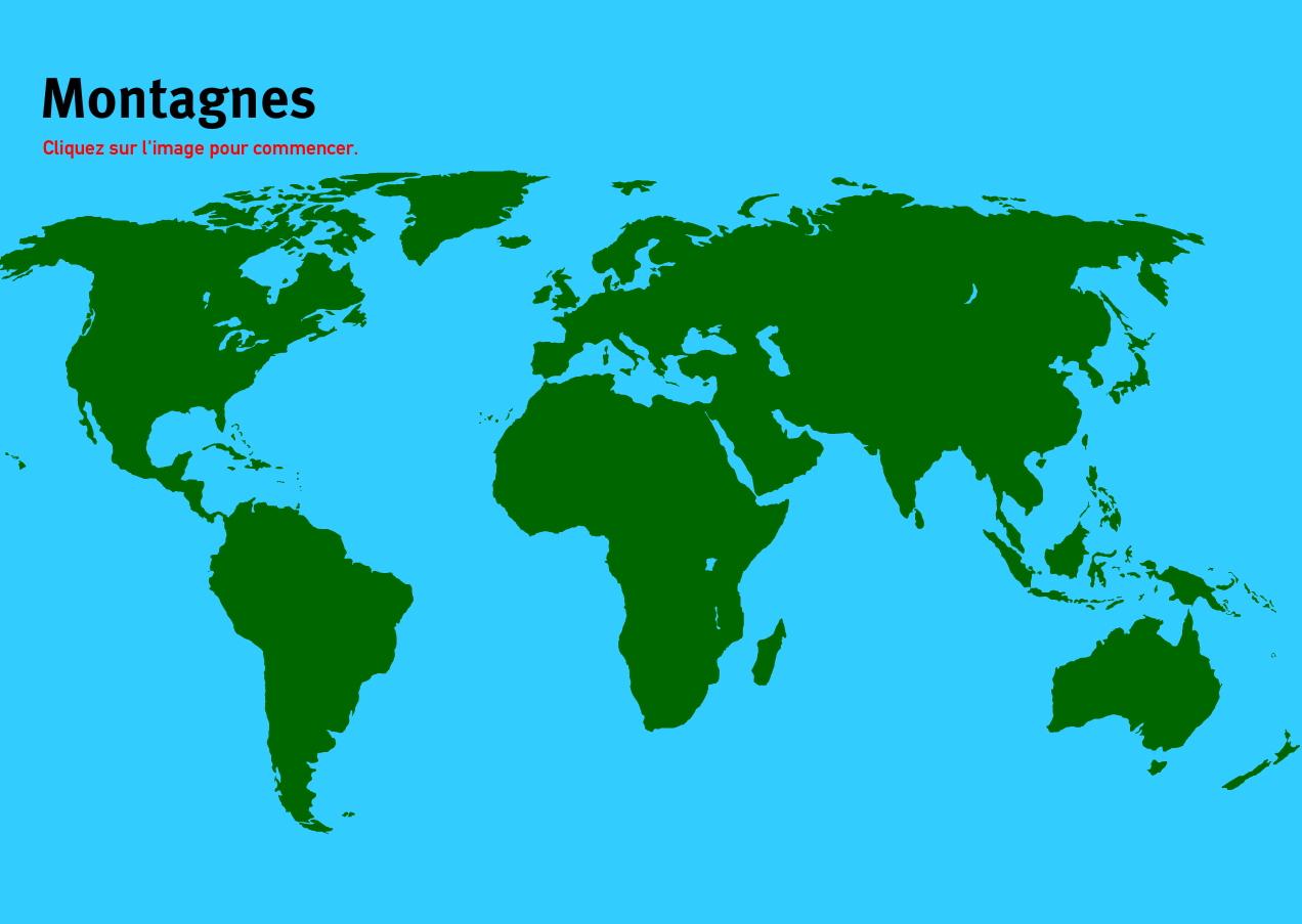 Carte Interactive Du Monde Montagnes Du Monde. Jeux De tout Jeux De Geographie