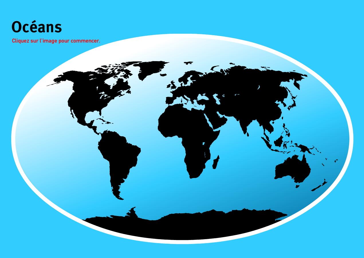 Carte Interactive Du Monde Océans Du Monde. Jeux De pour Jeux Geographie