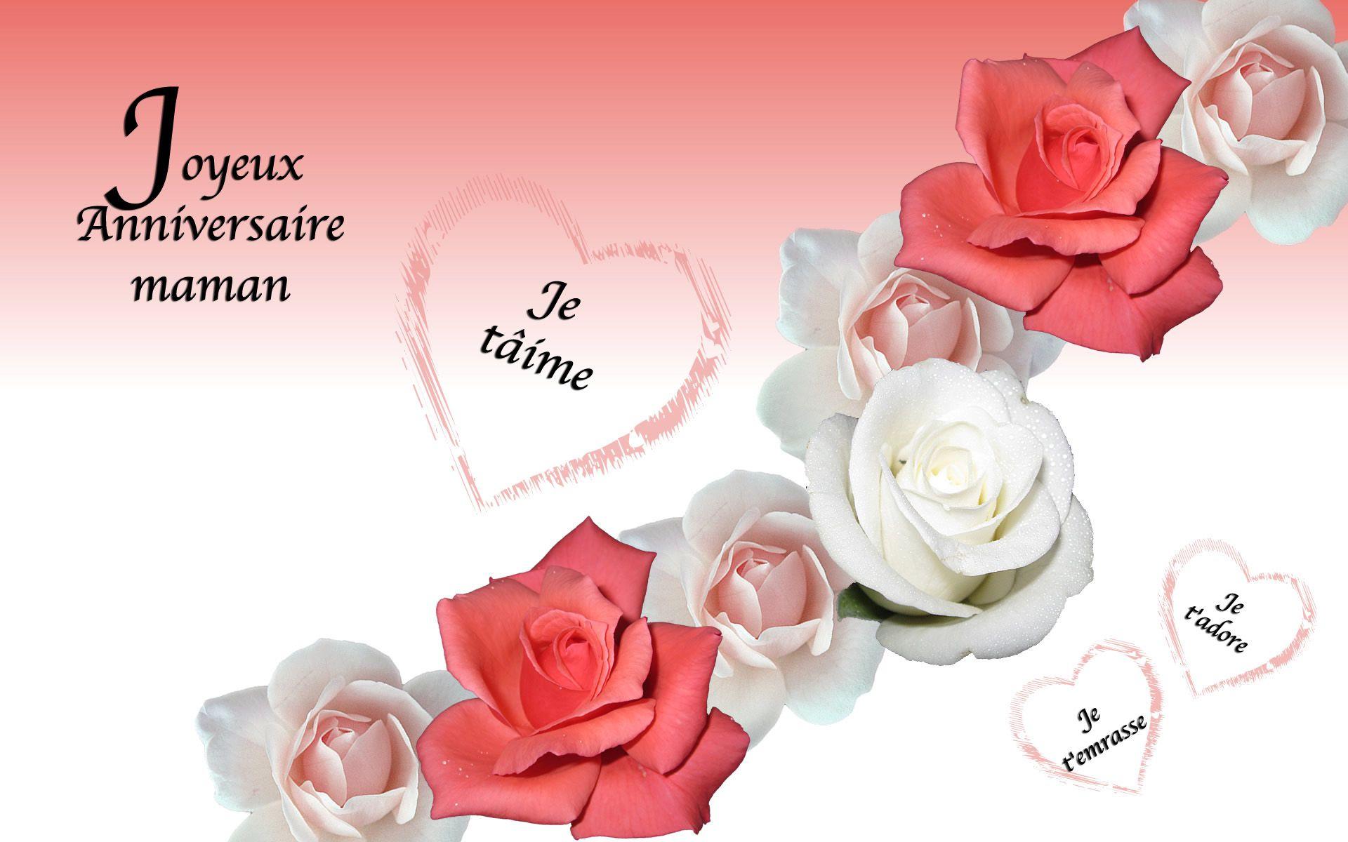 Carte Invitation D Anniversaire À Imprimer Gratuite : Carte intérieur Carte Bonne Fete Maman A Imprimer