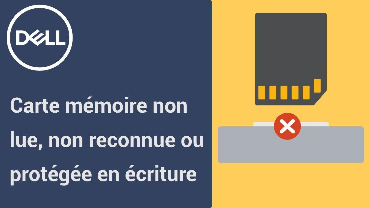 Carte Mémoire Non Lue Ou Non Reconnue Ou Protégée En Écriture tout Lire Carte Memoire Sur Pc