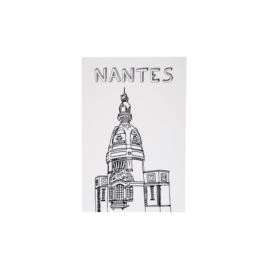 Carte Postale Tour Lu Ville De Nantes - Made In France à Coloriage Carte De France