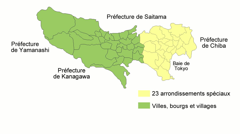 Carte Prefecture Tokyo • Mapsof à Carte Des Préfectures