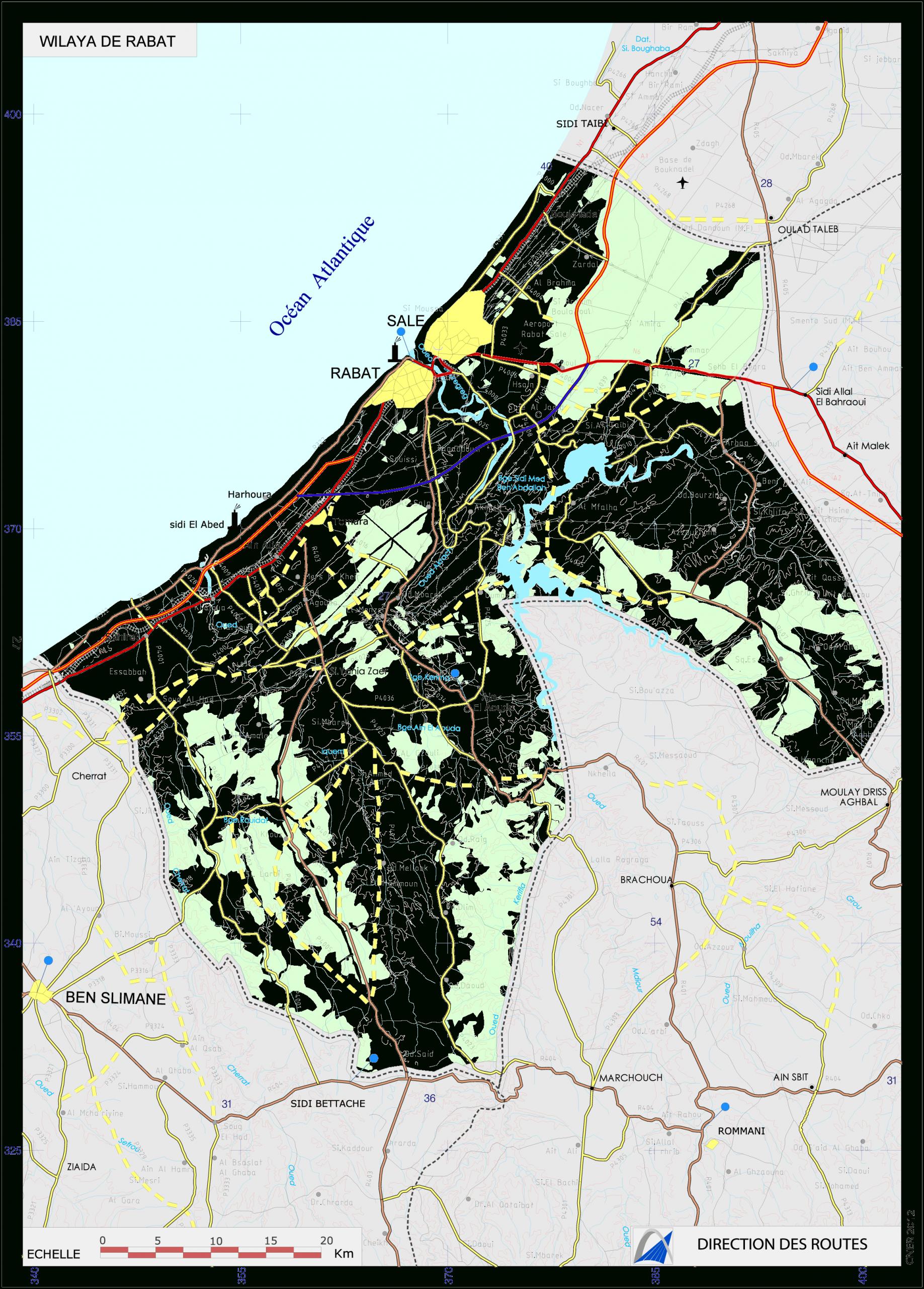 Carte Préfectures Rabat Salé Et Skhirat-Témara serapportantà Carte Des Préfectures
