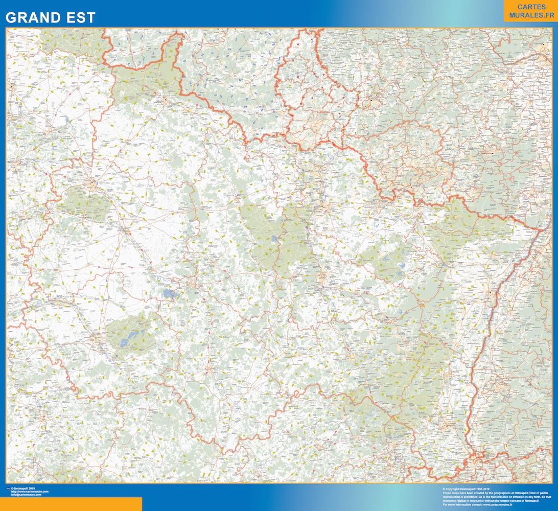 Carte Region Grand Est | Cartes Murales France concernant Carte Du Sud Est De La France Détaillée