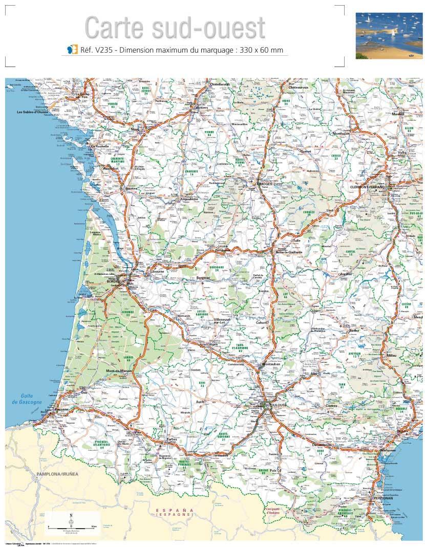 Carte Routière Sud Ouest » Vacances - Arts- Guides Voyages tout Carte Géographique De France