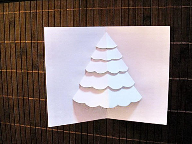 Carte Sapin De Noël En 3D intérieur Cartes De Noel Maternelle