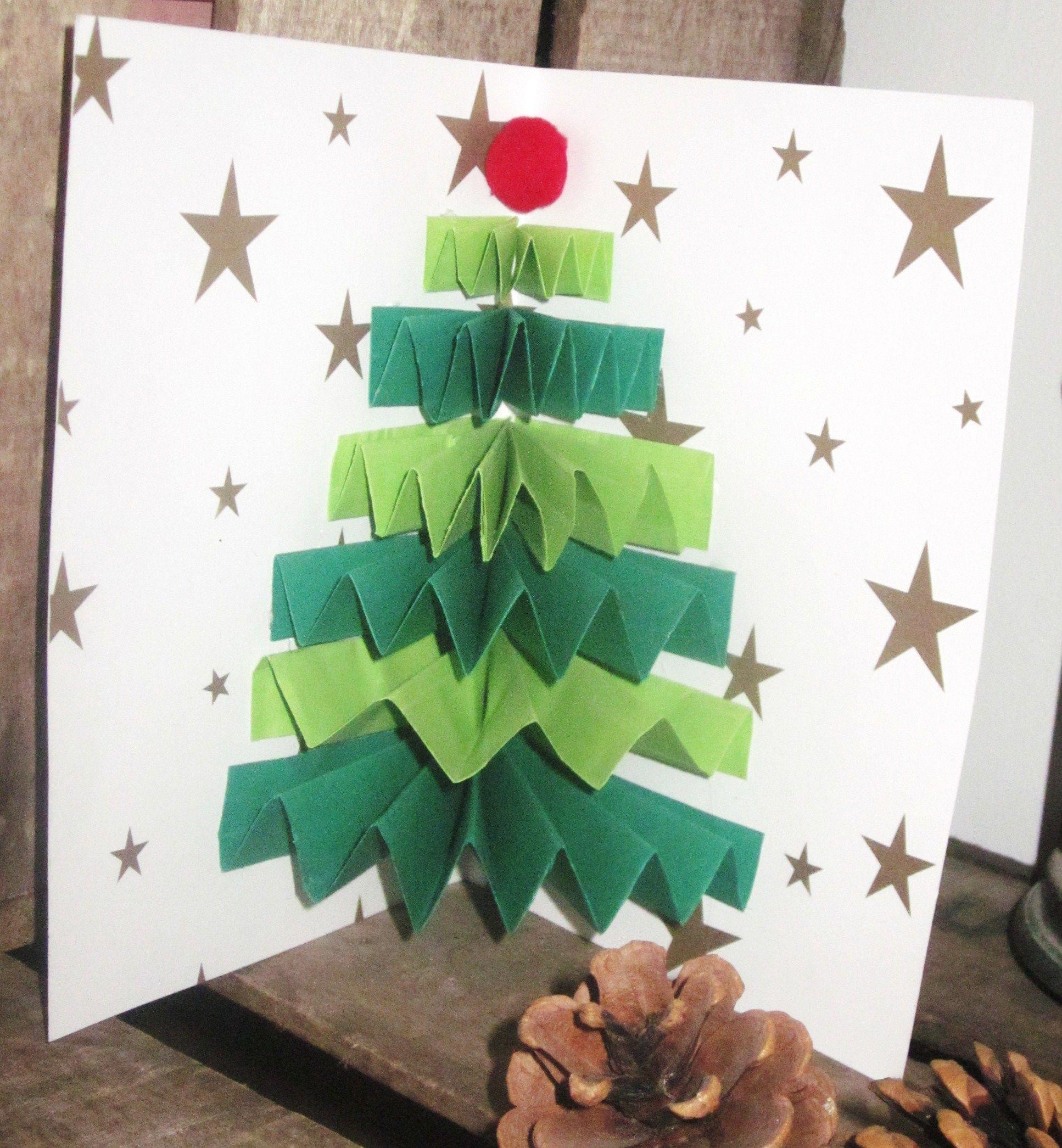 Carte Sapin Noël Accordéon (Avec Images)   Noel Maternelle pour Cartes De Noel Maternelle