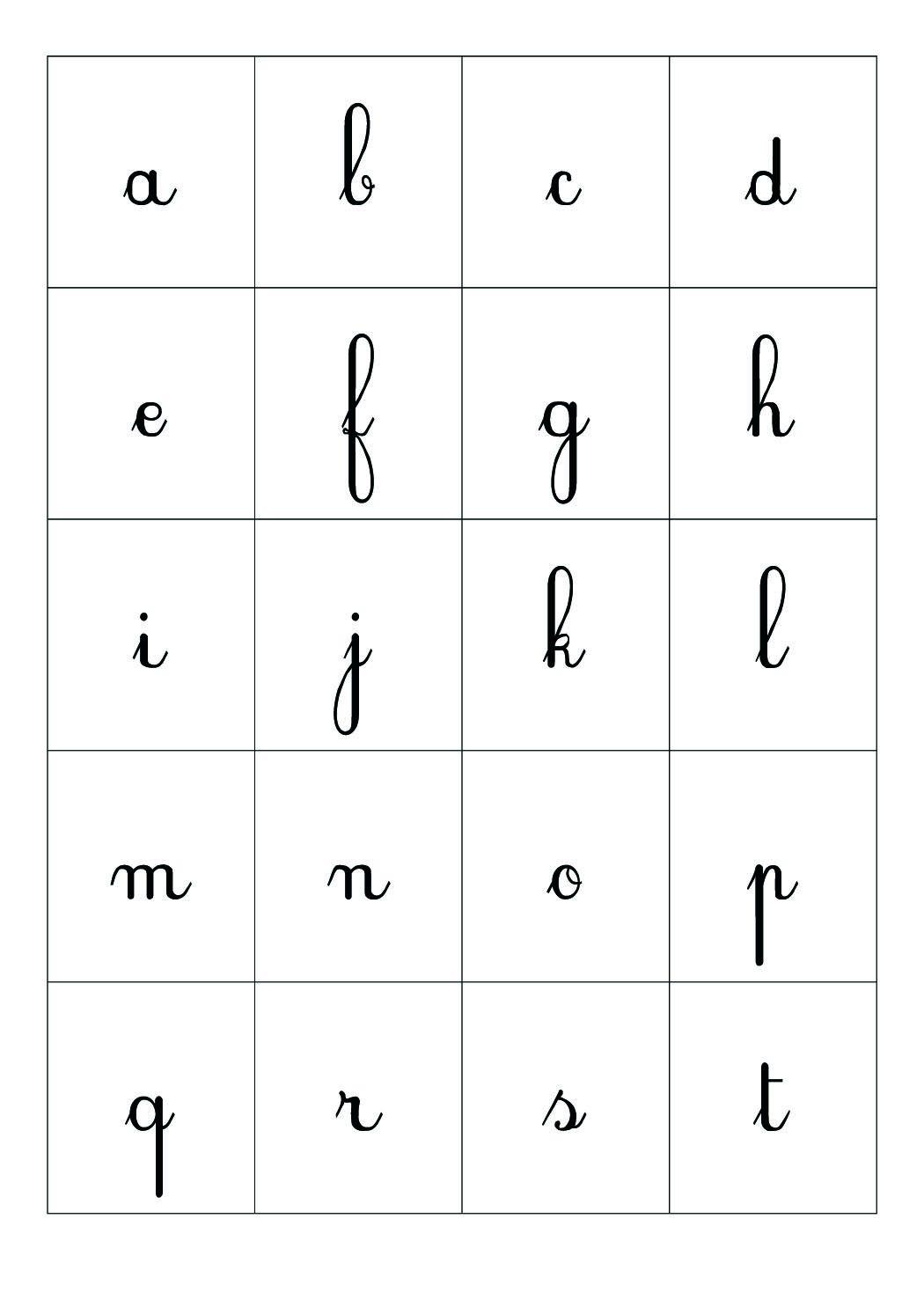 Cartes Alphabet - Crapouilleries serapportantà L Alphabet Minuscule