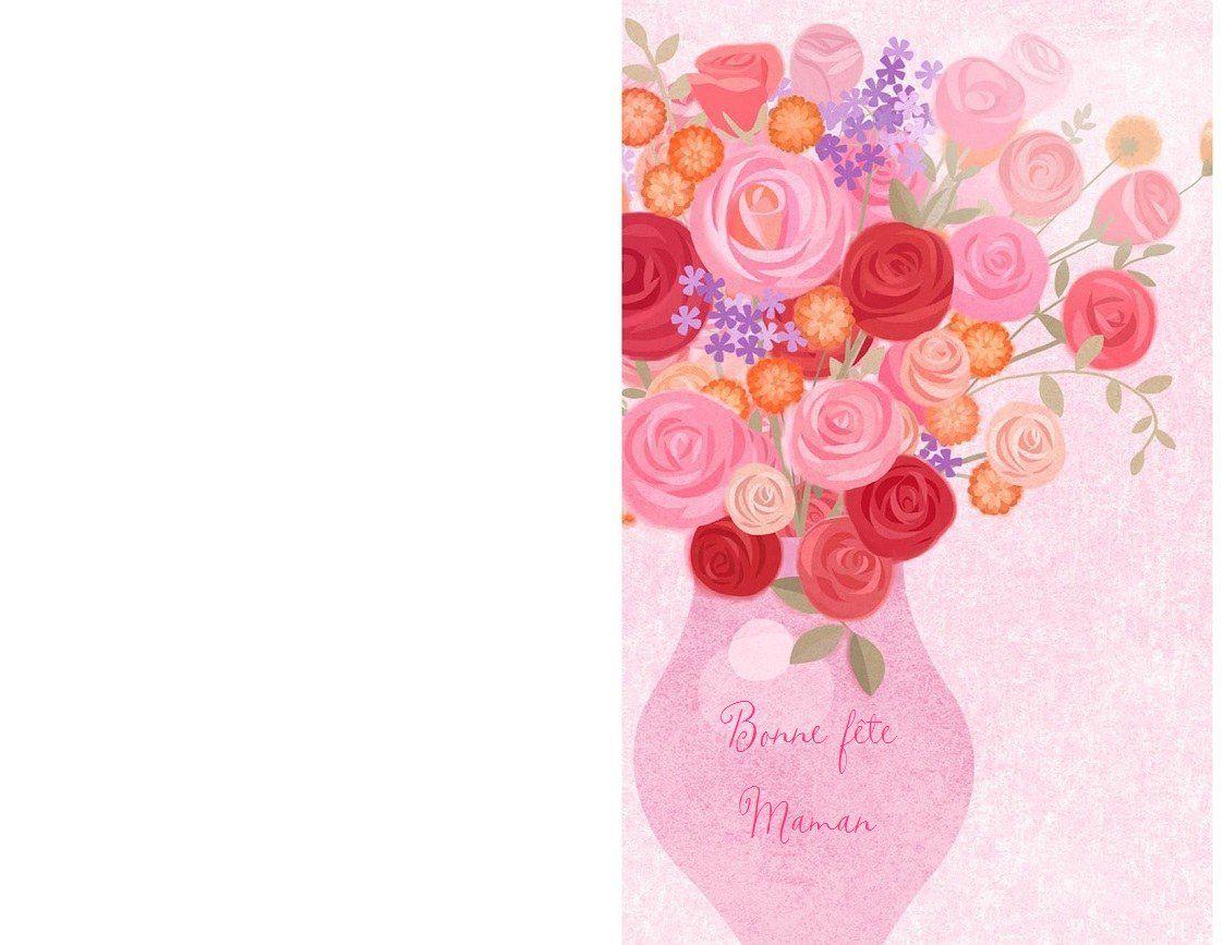 Cartes Bonne Fête Maman , À Imprimer ! - 1000 Idées À Faire pour Carte Bonne Fete Maman A Imprimer