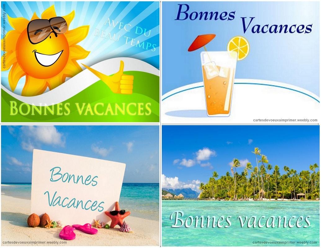 Cartes De Bonnes Vacances À Imprimer Gratuitement - Cartes à Images Bonnes Vacances Gratuites