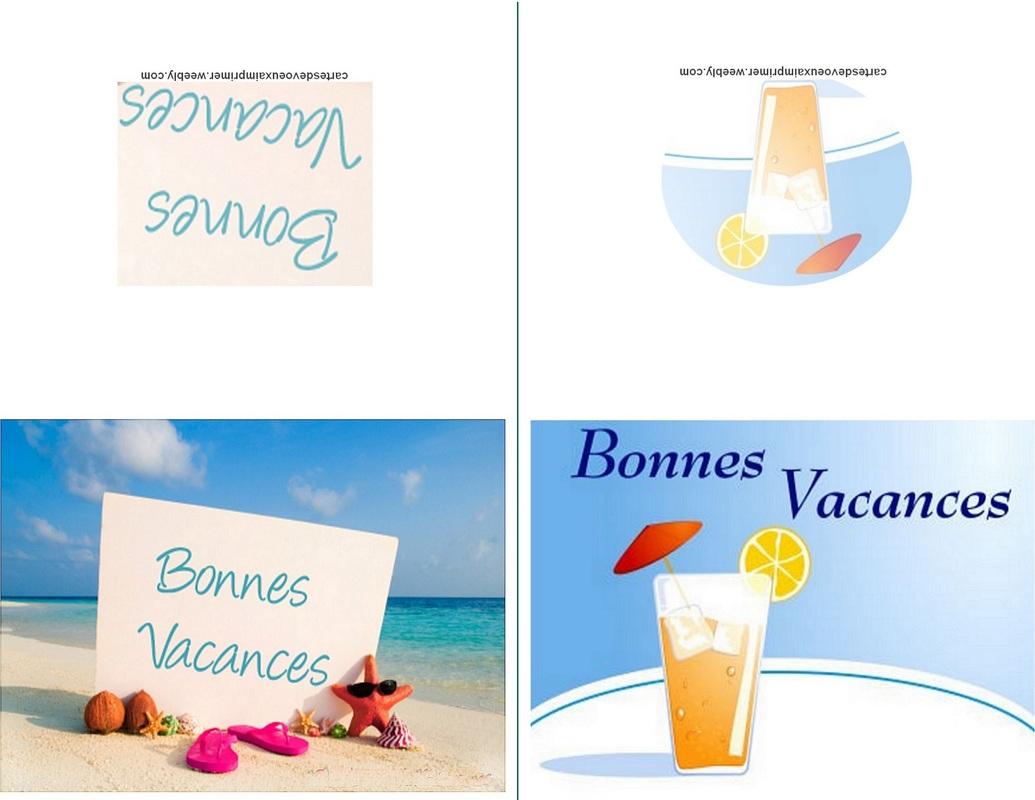 Cartes De Bonnes Vacances À Imprimer Gratuitement - Cartes concernant Images Bonnes Vacances Gratuites