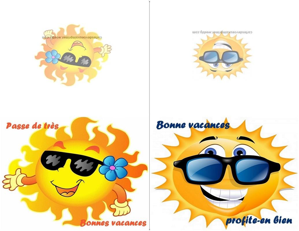 Cartes De Bonnes Vacances À Imprimer Gratuitement - Cartes destiné Images Bonnes Vacances Gratuites