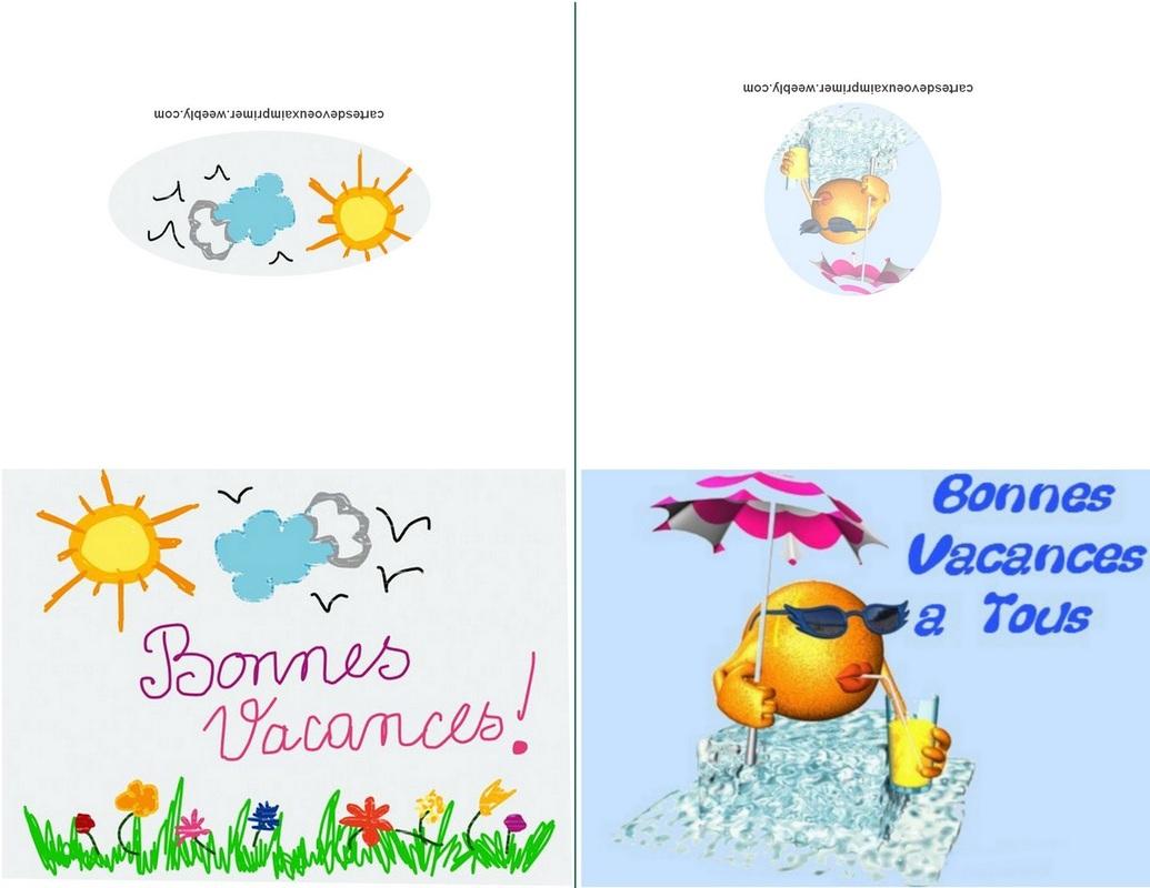 Cartes De Bonnes Vacances À Imprimer Gratuitement - Cartes encequiconcerne Images Bonnes Vacances Gratuites