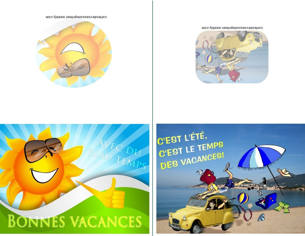 Cartes De Bonnes Vacances À Imprimer Gratuitement - Cartes intérieur Images Bonnes Vacances Gratuites