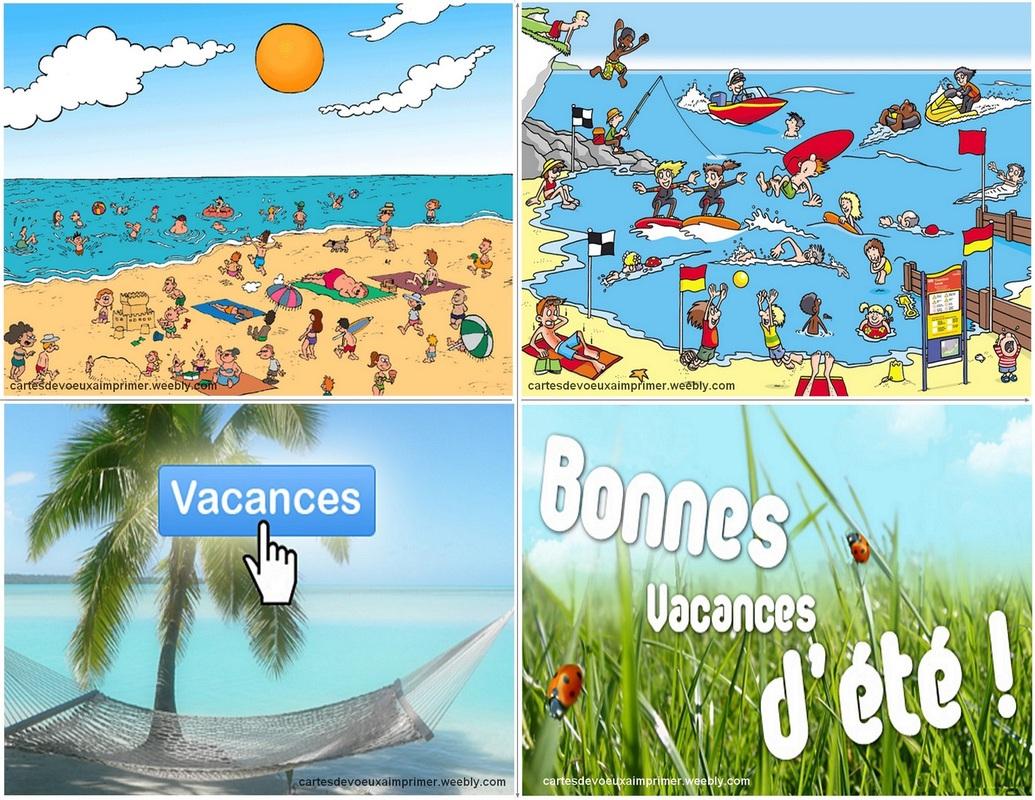 Cartes De Bonnes Vacances À Imprimer Gratuitement - Cartes pour Images Bonnes Vacances Gratuites