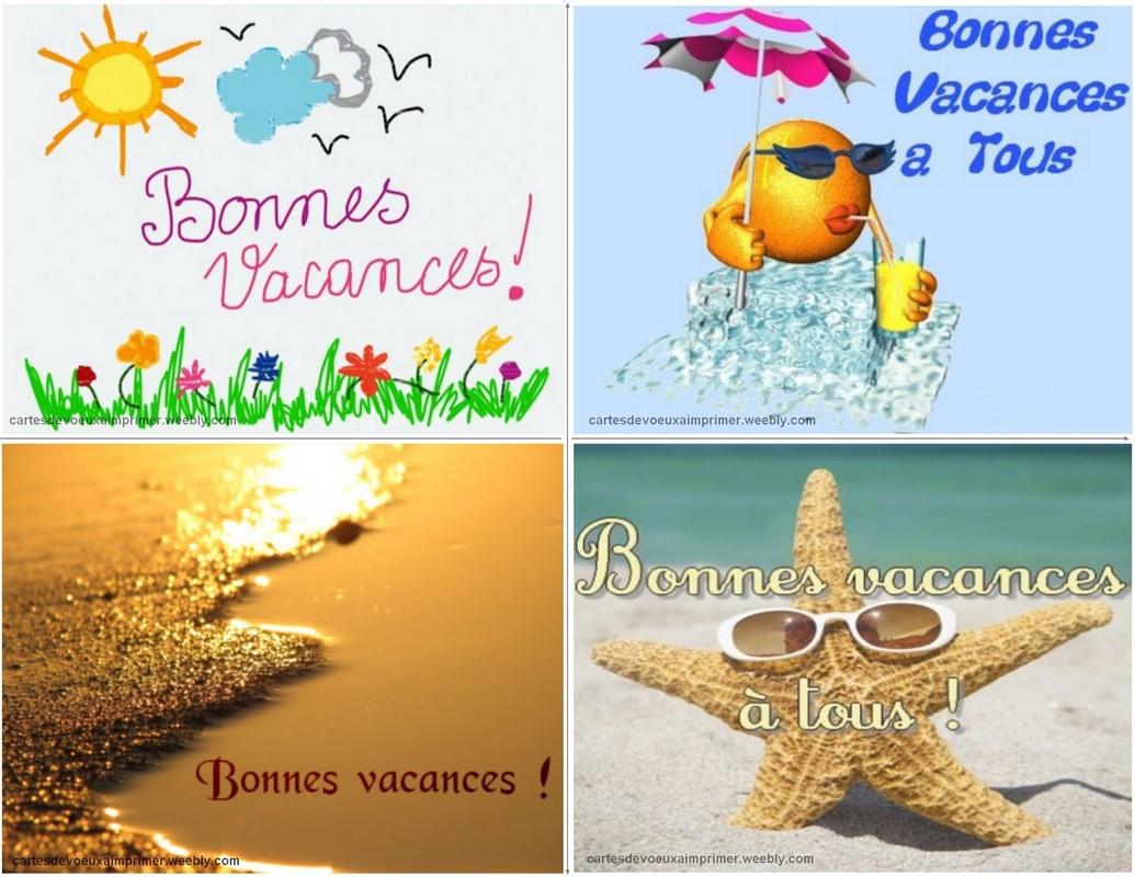 Cartes De Bonnes Vacances À Imprimer Gratuitement - Cartes serapportantà Images Bonnes Vacances Gratuites