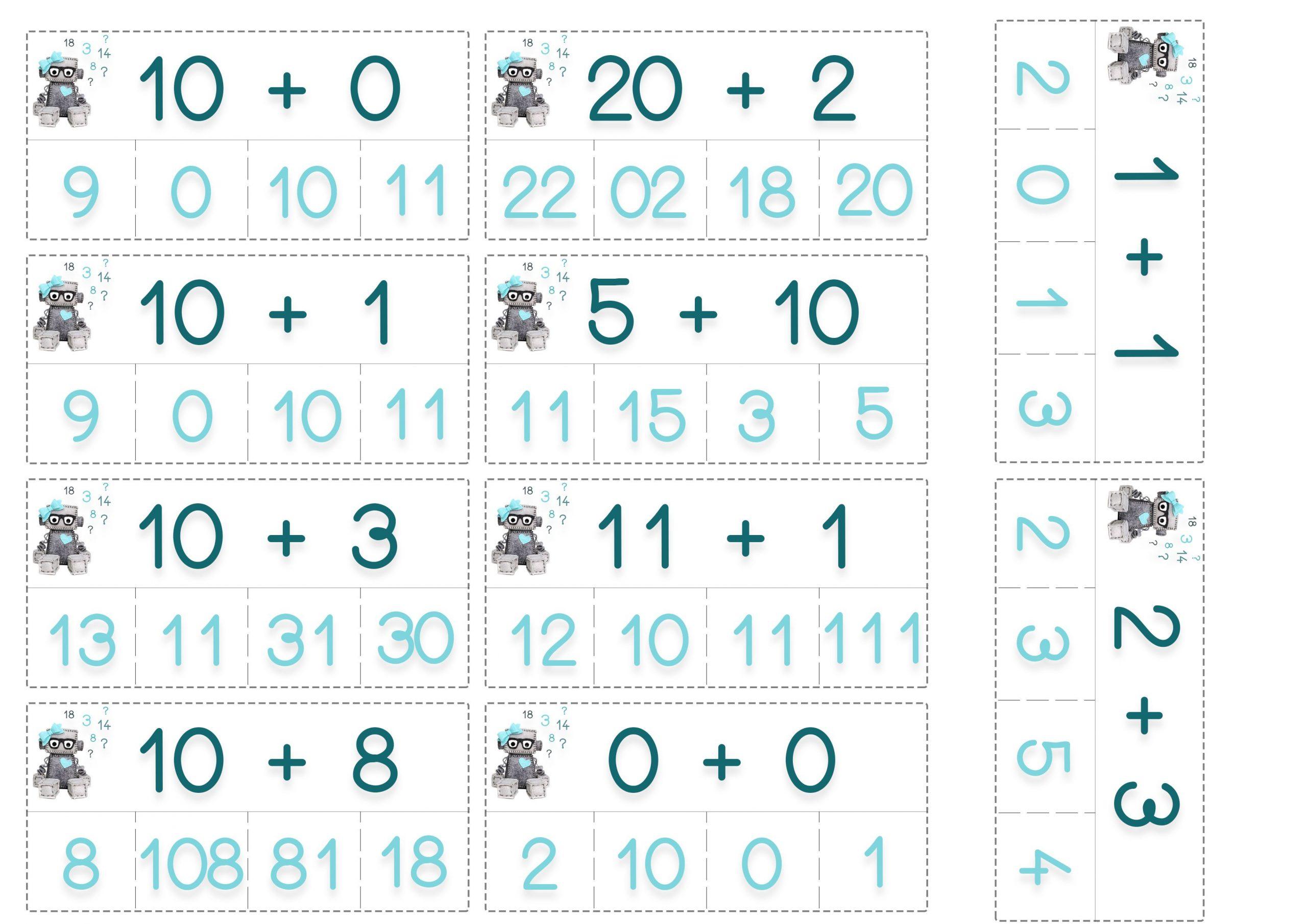 Cartes De Calculs   Jeux Calcul, Cartes D'apprentissage Et dedans Jeu Calcul Enfant