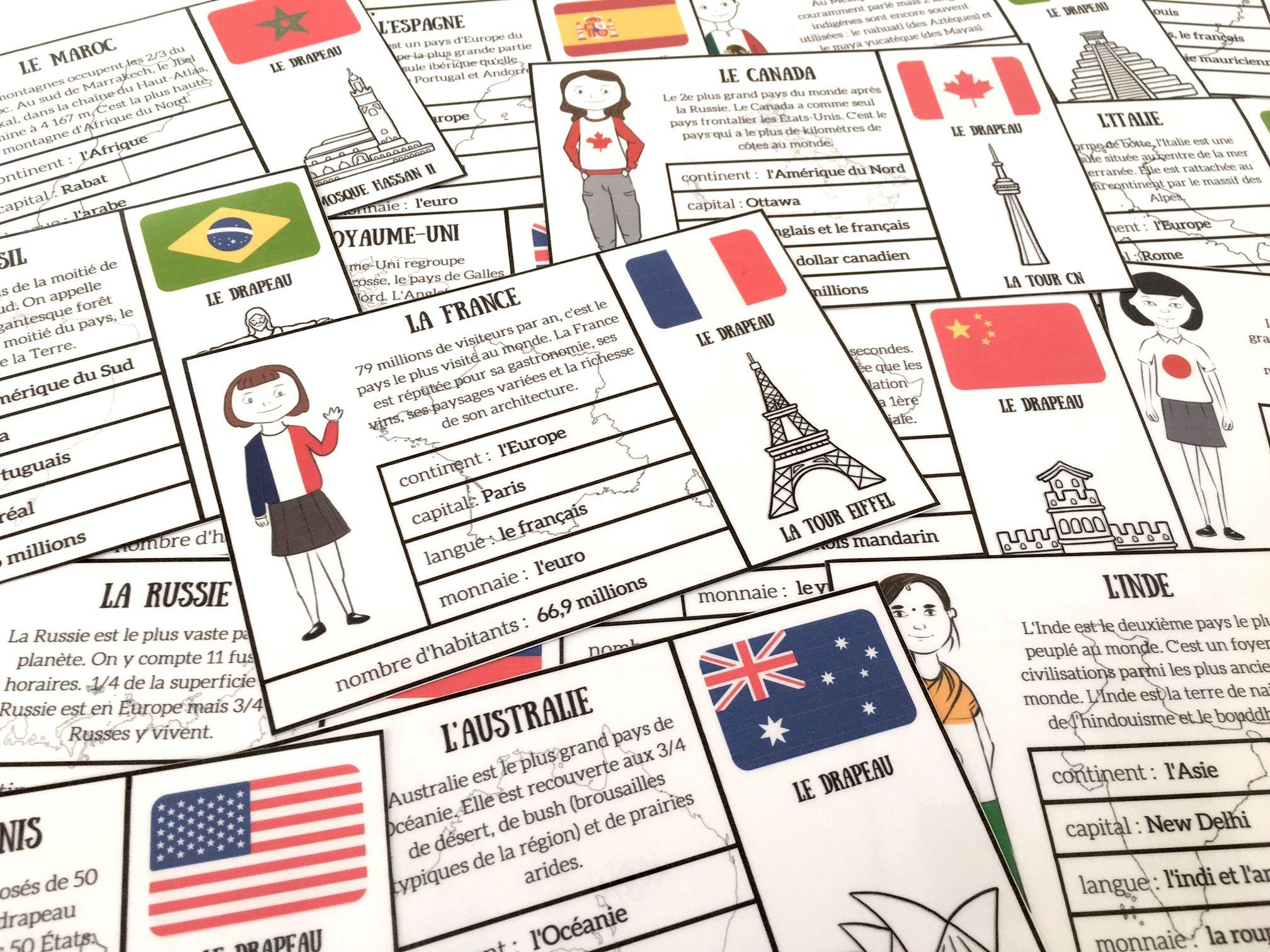 Cartes De Géographie Pour Découvrir Quelques Pays { À tout Jeu Geographie France