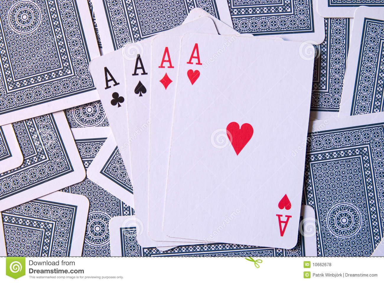 Cartes De Jeu Avec 4 As Photo Stock. Image Du Détruisez à Jeu De 4 Images